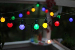 Partyslinga Ljusslinga LED 20-Ljus. Kulörta Lyktor. Multi