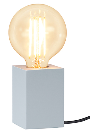 Bordslampa Lampfot Lys Silver i Trä