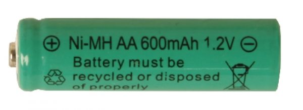 Batteri AA 1,2V Ni-mh 600 mAh Uppladdningsbart