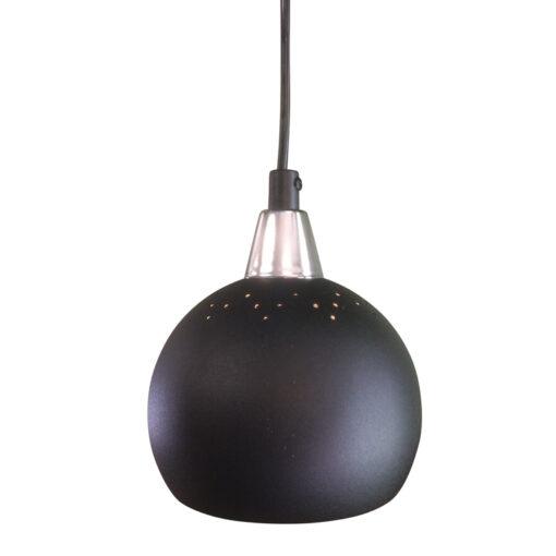 Fönsterlampa Klotet Svart Perforerad. Eklunds Metall