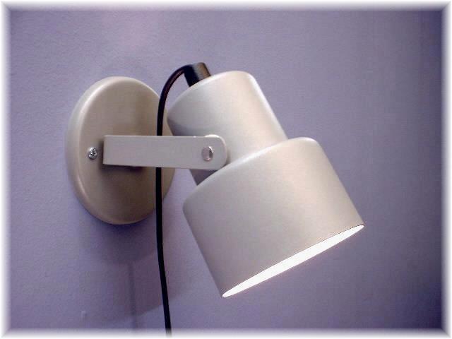 Vägglampa Eivor Silvergrå. Eklunds Metall