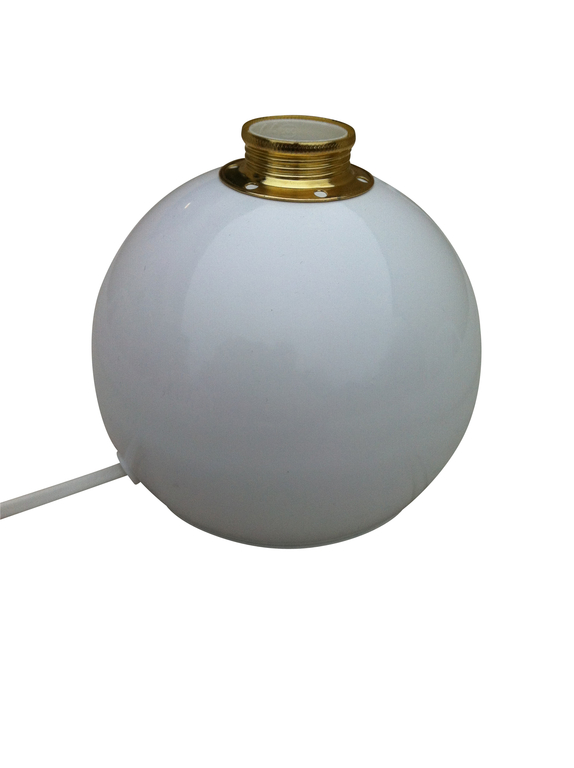 Bordslampa Klotet Vit med mässingsdetaljer