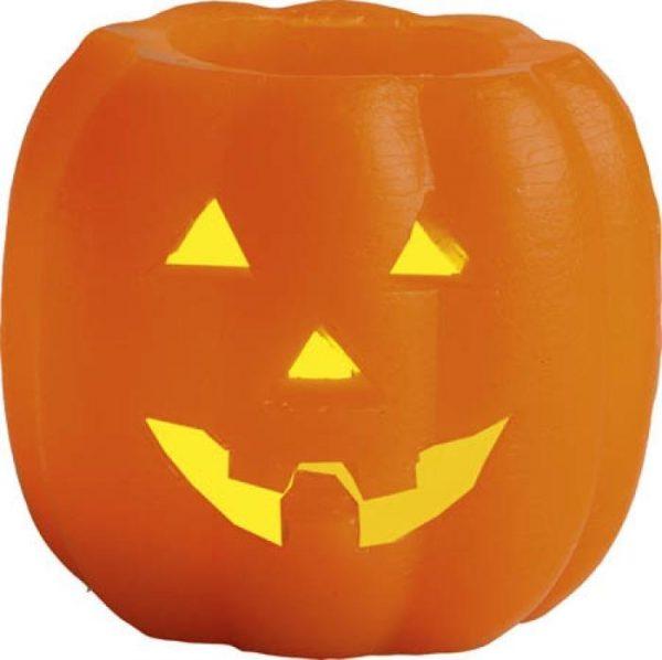 Halloweenpumpa med Värmeljus LED