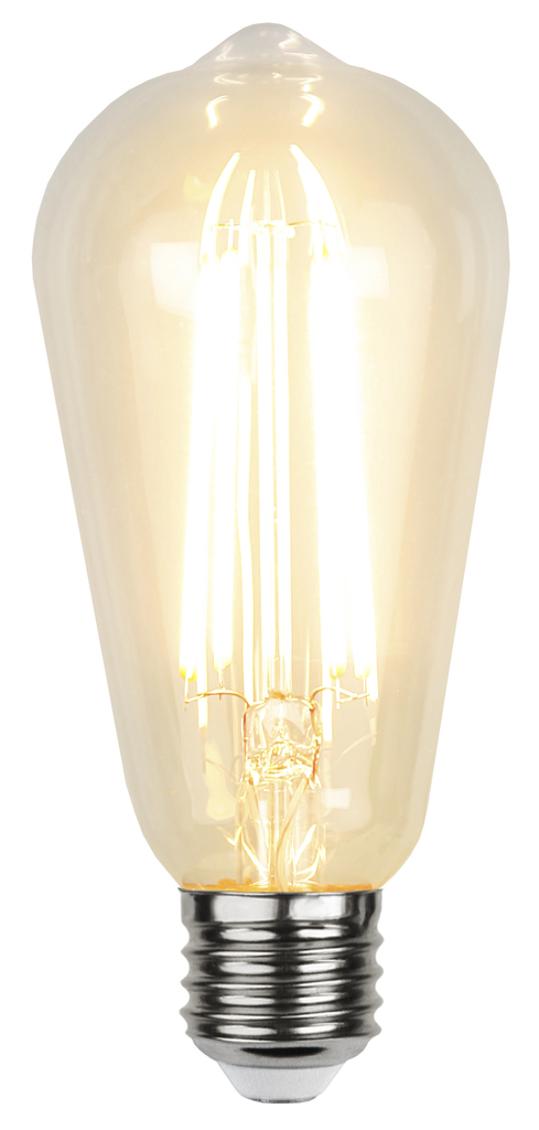 Led-Lampa E27 ST64 Skymningssensor Filament Led 4,2 W. Vintagestil