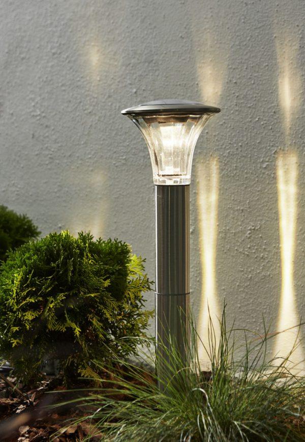 Solcells-pollare Solenergi Nice Rostfritt Stål 60 Lumen.