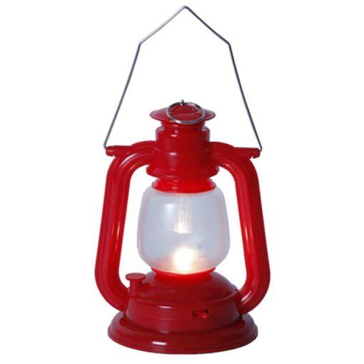 Lykta Röd LED med handtag. Batteridrivet
