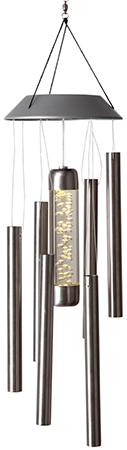 Solenergi Vindspel Stålrör. LED