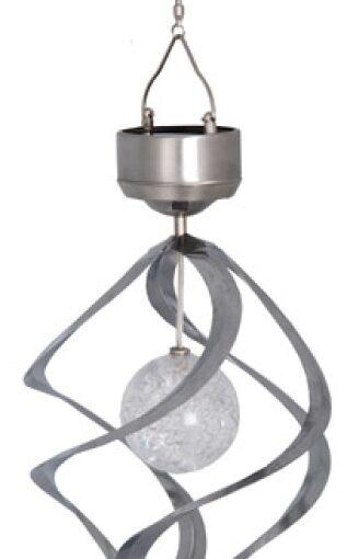 Solenergi Vindsnurra med boll. LED