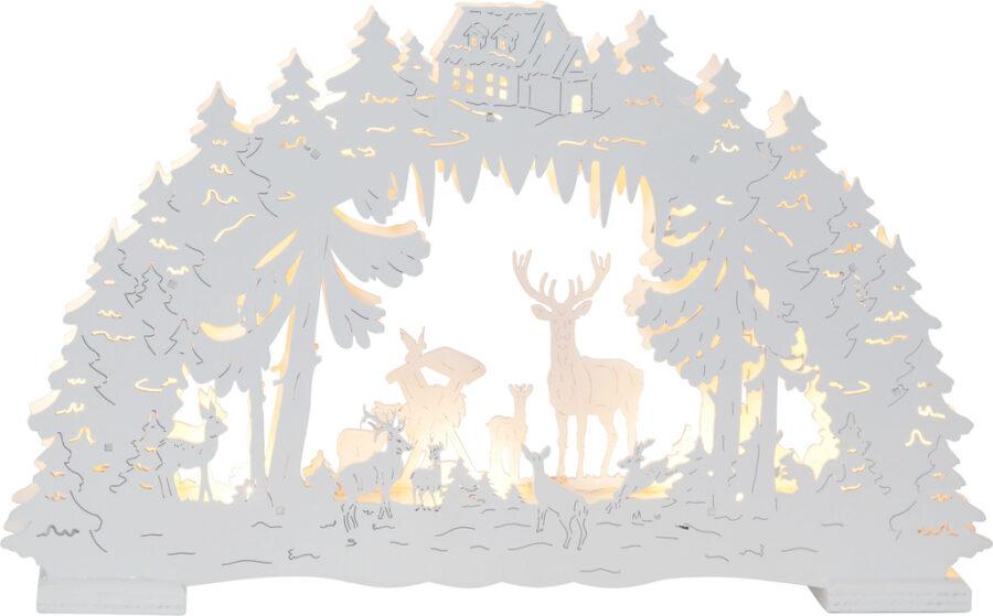 Bordsdekoration Fauna Candlestick Vit