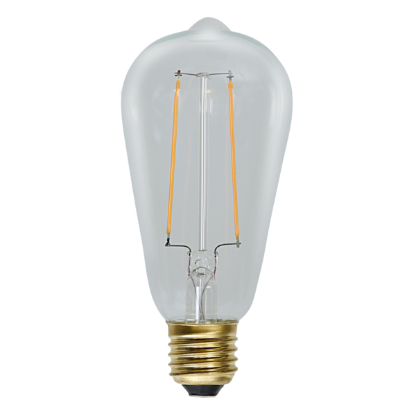 LED-LAMPA E27 ST64 SOFT GLOW. Vintagestil. 2,3W