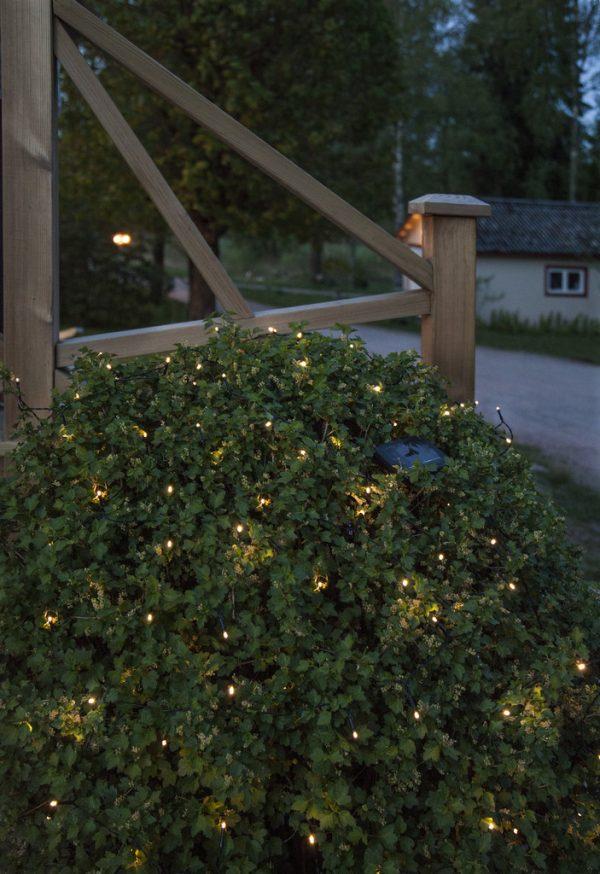 Solcells-Ljusslinga Bassis. 100 Ljus
