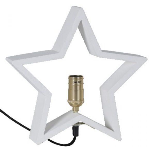 Lysekil Vit Trästjärna 28cm