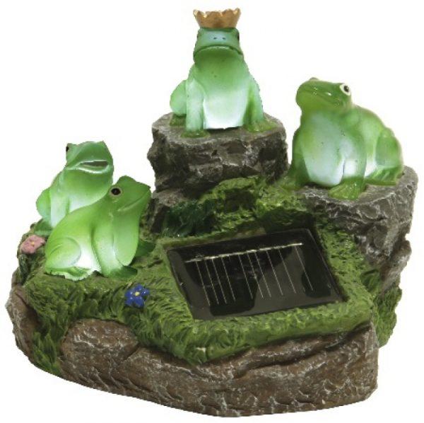 Solenergi grodor på sten 4-Led
