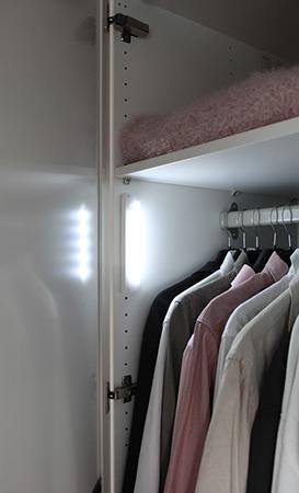 Helt nya Garderobsbelysning LED med rörelsesensor | Eklunds Metall AJ-06