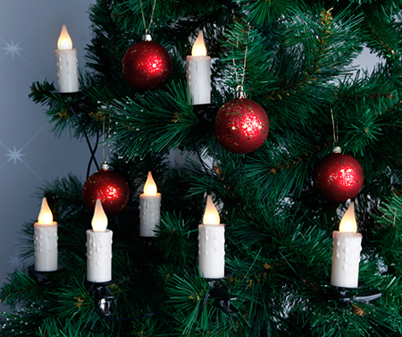 Julgransbelysning Inomhus LED Klar Vit Vaxljus Droppar 10L