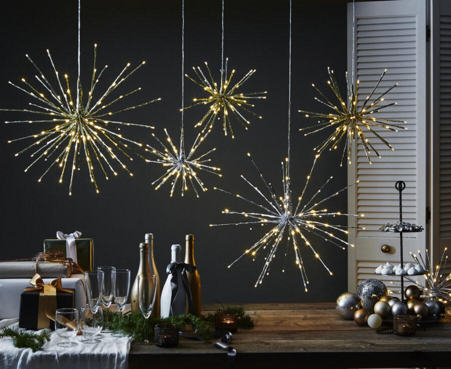 Hängande Dekoration Firework Gold 30 cm