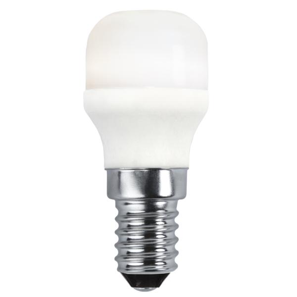 Päronlampa Promo LED E14 ST26 1,7W Varmvit 2700K.
