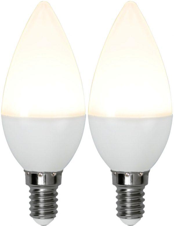 Kronljuslampa LED. 2-Pack. E14. 3W. 3000K