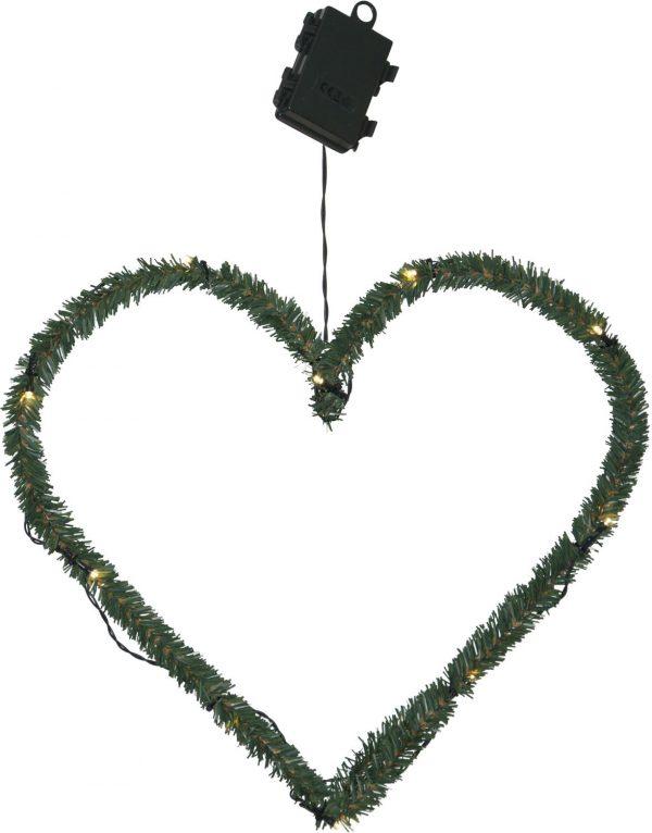 Vacker Krans Hjärta. 38 cm cm. 10 LED