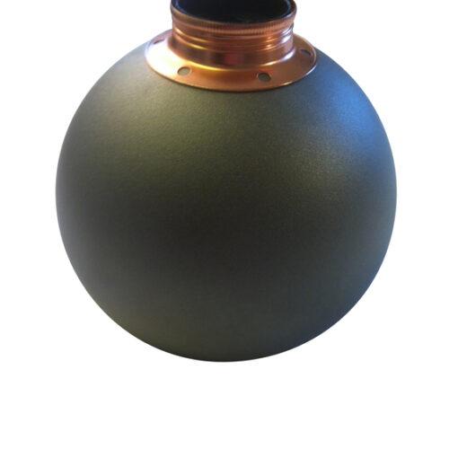 Bordslampa Klotet Antracitgrå med koppardetaljer