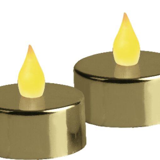 Värmeljus Metallic Guld LED 2p