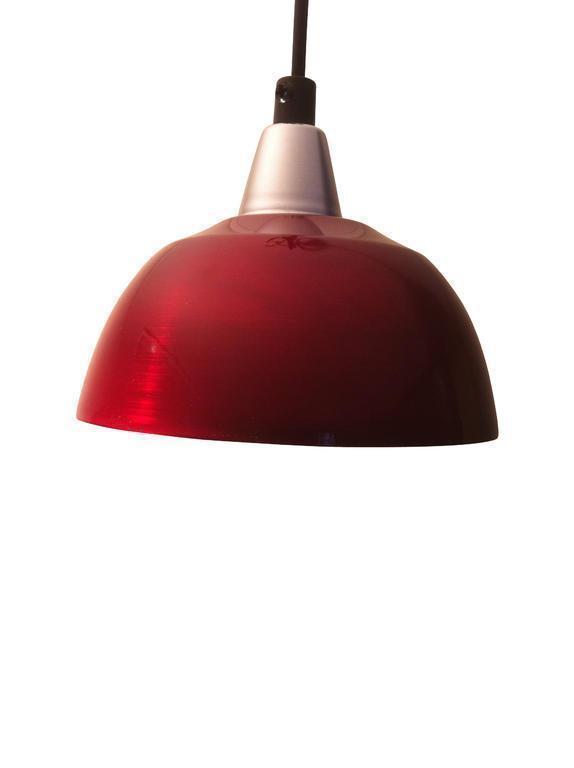 Fönsterlampa Maj Borstad Chiliröd. 15cm. Eklunds Metall