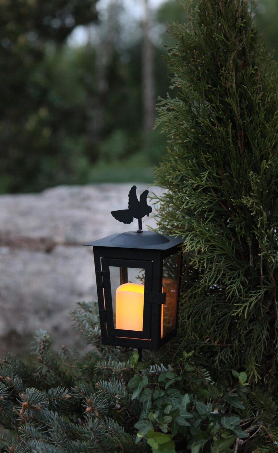 Gravljus/Minnesljus Svart LED - Duva