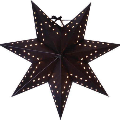 Stjärna Bo Svart 34cm