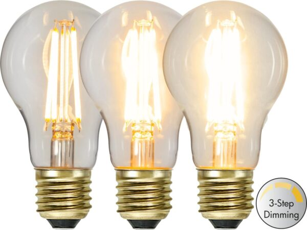 LED-LAMPA E27 SOFT GLOW 3-STEP