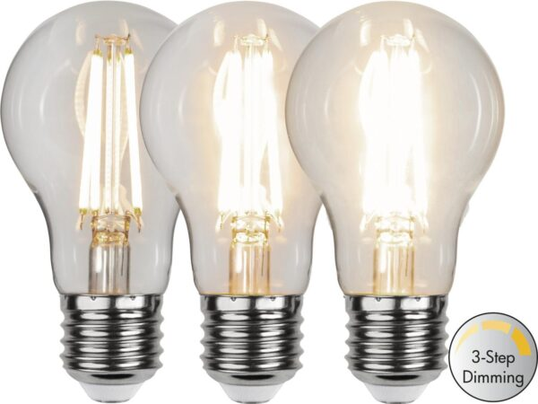 LED-LAMPA E27 A60 CLEAR 3-STEP