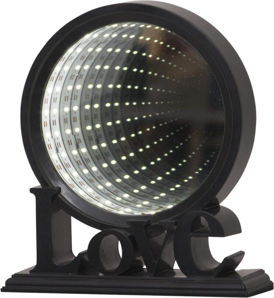 BORDSDEKORATION MIRROR LIGHT SVART