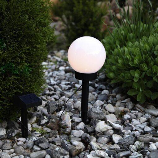 Solenergi Trädgårdsklot 15 cm. LED
