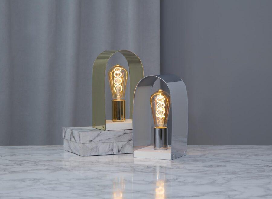 Nobel Lampfot E 27 Mässing