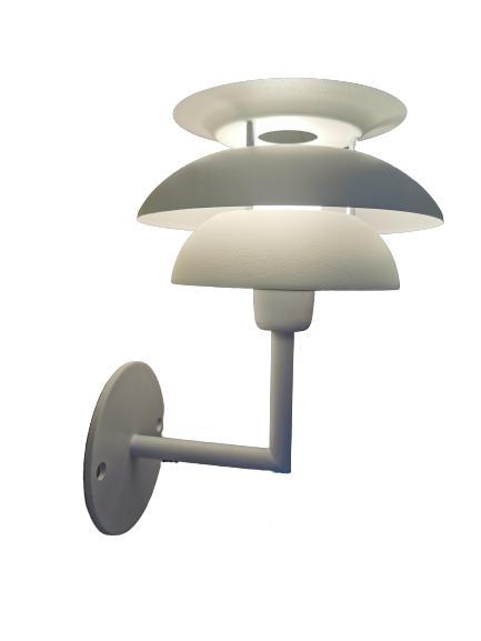 Vägglampa Flora Vit 20cm