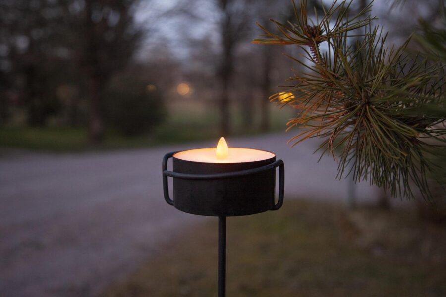Led Ljus Torch Candle Marschall Svart
