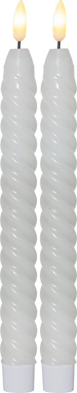 LED Antikljus Flamme Swirl Vit 2-P